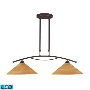 Elk Lighting Elysburg LED 2-Light Billiard/Island in Aged Bronze