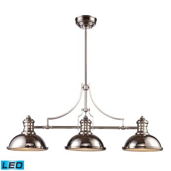 Elk Lighting Chadwick LED 3-Light Billiard/Island in Polished Nickel