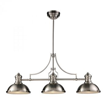 Landmark Chadwick Satin Nickel 3-Light Billiard/Island