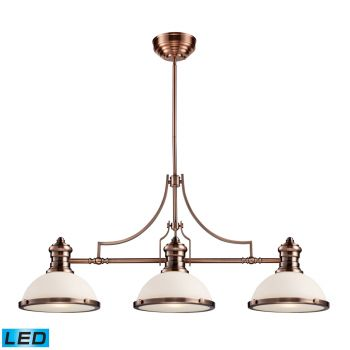 Elk Lighting Chadwick LED 3-Light Billiard/Island in Antique Copper