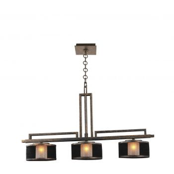 Kalco Stanley 3-Light Chandelier in Volcano Bronze