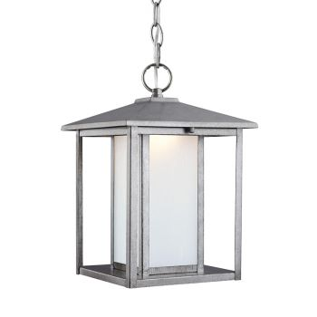 Sea Gull Lighting Hunnington LED Outdoor Pendant in Weathered Pewter