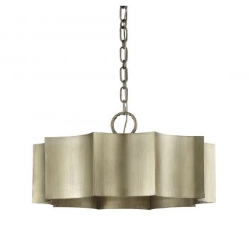 "Savoy House Shelby 22.5"" 3-Light Pendant in Silver Patina"