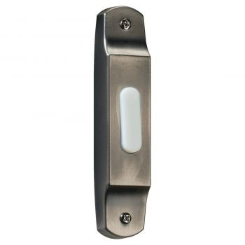 """Quorum Chime 4.5"""" Door Chime Button in Antique Silver"""