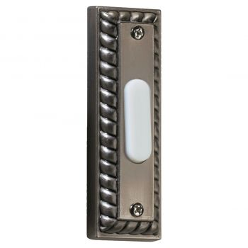 """Quorum Chime 3.5"""" Door Chime Button in Antique Silver"""