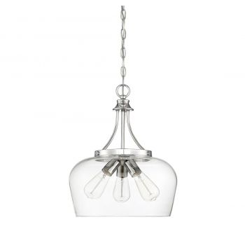 "Savoy House Octave 15"" 3-Light Pendant in Polished Chrome"