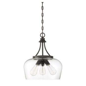"Savoy House Octave 15"" 3-Light Pendant in English Bronze"