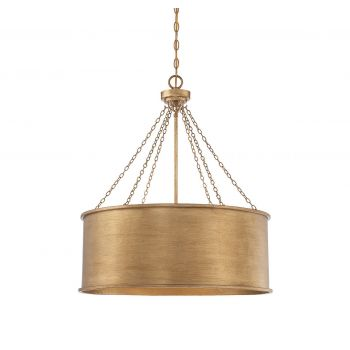 Savoy House Rochester 6-Light Pendant in Gold Patina