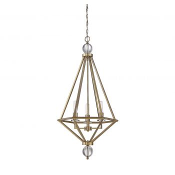 Savoy House Tekoa 3-Light Pendant in Warm Brass