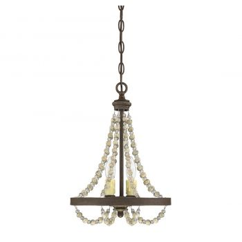 """Savoy House Mallory 12"""" 2-Light Chandelier in Fossil Stone"""