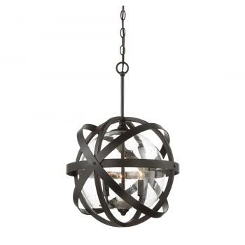 Savoy House Bassett 3-Light Outdoor Pendant in English Bronze
