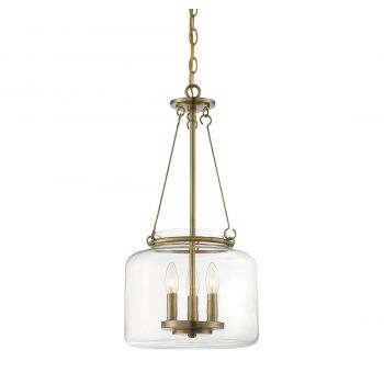 Savoy House Akron 3-Light Pendant in Warm Brass