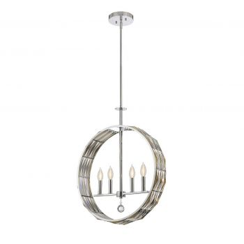 Savoy House Lancaster 4-Light Pendant in Polished Chrome