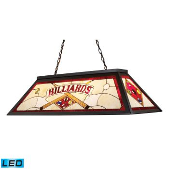 Elk Lighting Tiffany Lighting/Billiard/Island LED 4-Light Billiard/Island in Tiffany Bronze