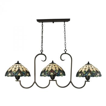 Elk Lighting Gameroom  3-Light Billiard/Island in Tiffany Bronze