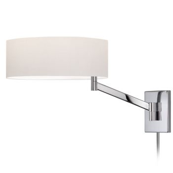 "Sonneman Perch 22.5"" Swing Arm Wall Lamp in Chrome Finish"