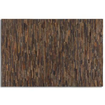 Uttermost Malone 5 X 8 Strips of Rescued Leather Rug in Rust Brown