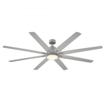 "Savoy House Bluffton 72"" 8 Blade Outdoor Ceiling Fan in Grey Wood"
