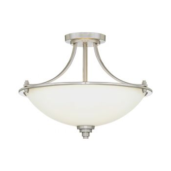 Millennium Lighting Bristo 3-Light Semi-Flush in Satin Nickel