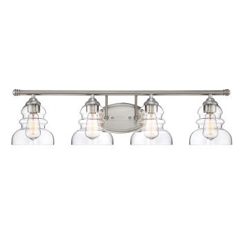 Millennium lighting 7000 series 4 light bath vanity in satin nickel