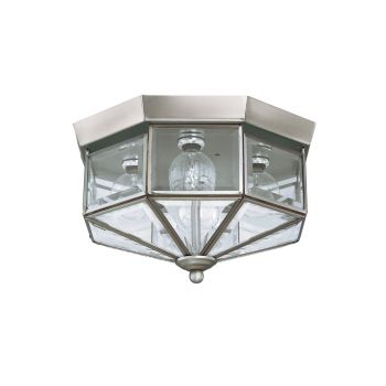 Sea Gull Lighting Grandover 4-Light Ceiling Flush Mount in Brushed Nickel