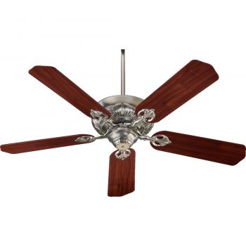 """Quorum Chateaux 52"""" 5-Blade Ceiling Fan in Satin Nickel"""