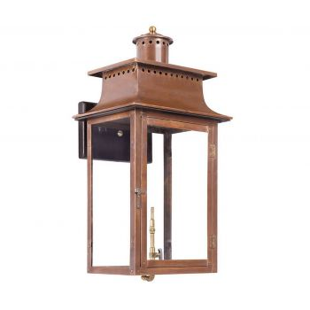 "Elk Maryville 27"" Outdoor Gas Wall Lantern in Aged Copper"