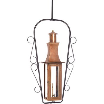 "Elk Lighting Maryville 9"" Outdoor Hanging Gas Lantern in Aged Copper"