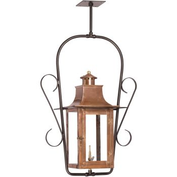 "Elk Lighting Maryville 10.5"" Outdoor Hanging Gas Lantern in Aged Copper"