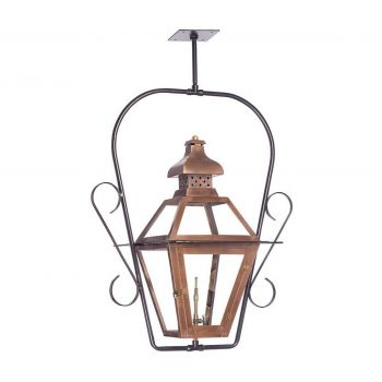 "Elk Bayou 30"" Outdoor Gas Ceiling Lantern in Aged Copper"