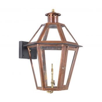 "Elk Grande Isle 23"" Outdoor Gas Wall Lantern in Aged Copper"