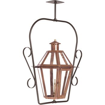 "Elk Lighting Grande Isle 16"" Outdoor Hanging Gas Lantern in Aged Copper"