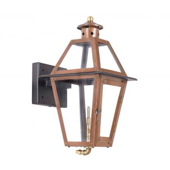 "Elk Grande Isle 15"" Outdoor Gas Wall Lantern in Aged Copper"