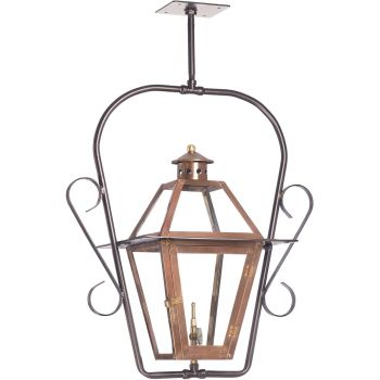 "Elk Lighting Grande Isle 11"" Outdoor Hanging Gas Lantern in Aged Copper"