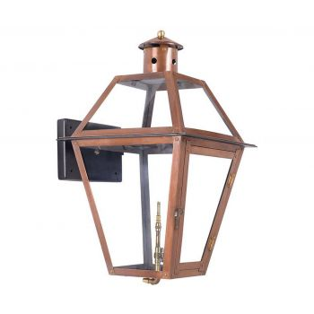 "Elk Grande Isle 24"" Outdoor Gas Wall Lantern in Aged Copper"