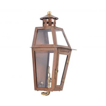 "Elk Grande Isle 16"" Outdoor Gas Pocket Lantern in Aged Copper"