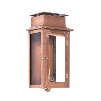 "Elk Maryville 17"" Outdoor Gas Pocket Lantern in Aged Copper"