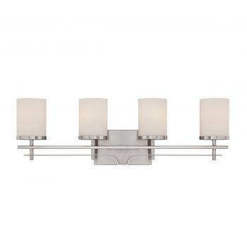 Savoy house colton 4 light vanity bar in satin nickel