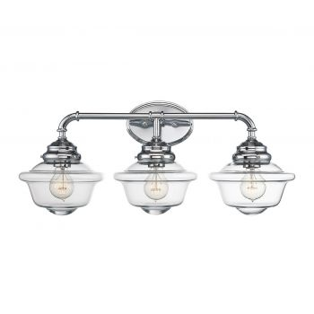 Savoy house fairfield 3 light vanity bar in chrome