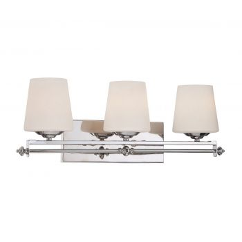 Savoy House Aiden 3-Light Vanity Bar in Polished Chrome