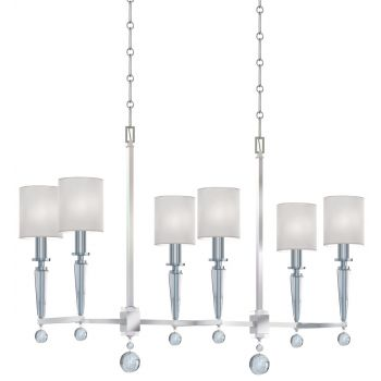 Crystorama Paxton 6-Light Chandelier in Polished Nickel
