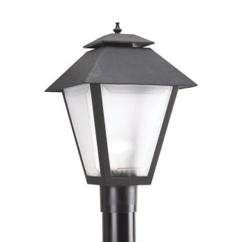 Sea Gull Lighting Outdoor Post Lanterns 1-Light Outdoor Post Lantern in Black