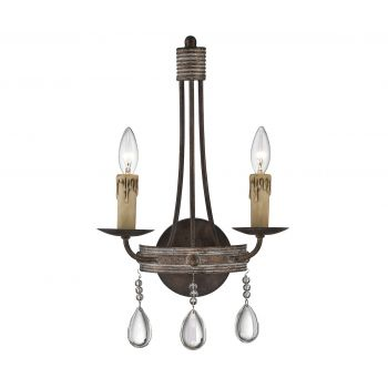 Savoy House Carlisle 2-Light Wall Sconce in Bronze Patina
