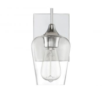 "Savoy House Octave 9.5"" Wall Sconce in Polished Chrome"