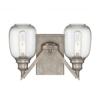 Savoy House Orsay 2-Light Wall Sconce in Industrial Steel