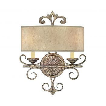 Savoy House Savonia 2-Light Wall Sconce in Oxidized Silver