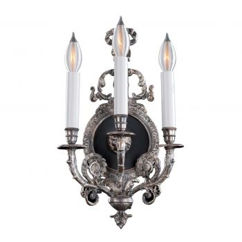 Savoy House Empire - XIV Century 3-Light Wall Sconce in Silver
