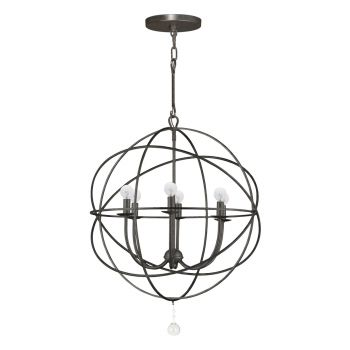 Crystorama Solaris 6-Light Chandelier in English Bronze