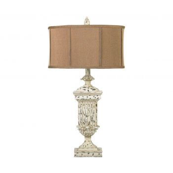 """Dimond Morgan Hill 31"""" Distressed Table Lamp in White"""