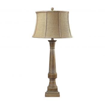 """Dimond Lyerly 37"""" Bleached Wood Table Lamp"""